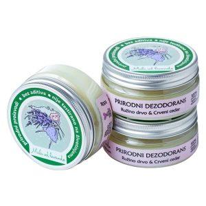 Prirodni dezodorans Ružino drvo i Crveni Cedar - Mala od lavande