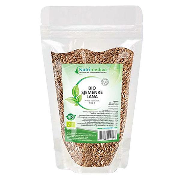Bio lan sjemenke (500 g) - Nutrimedica
