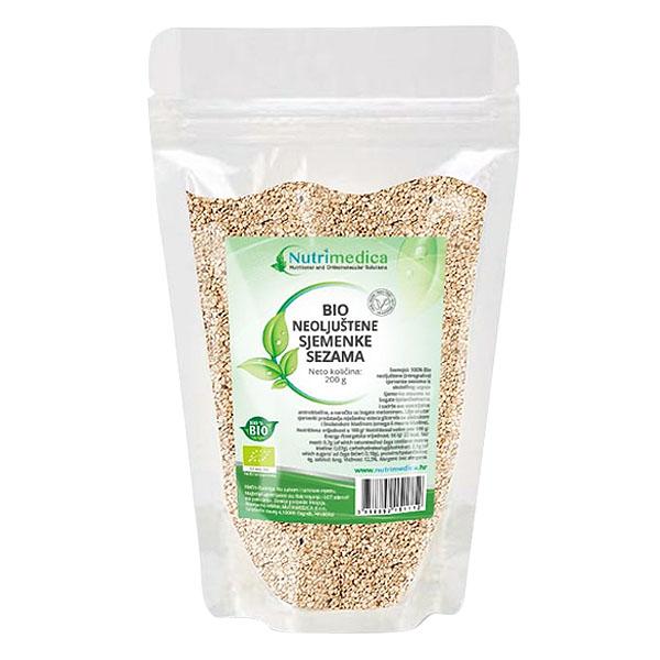 Sezam - BIO neoljuštene sjemenke - Nutrimedica
