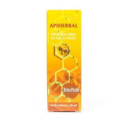 HerbaPharm - Apiherbal propolis sprej za grlo i kožu (20ml)